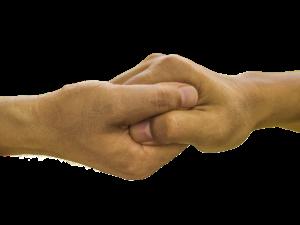 due mani unite