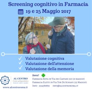 servizio Screening cognitivo in farmacia