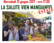 """Locandina di """"La salute vien mangiando"""" 2017"""