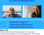 Locandina servizio Screening cognitivo in farmacia