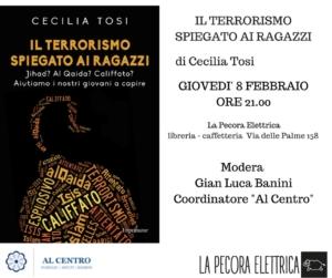 """Locandina presentazione del libro """"Il terrorismo spiegato ai ragazzi"""""""